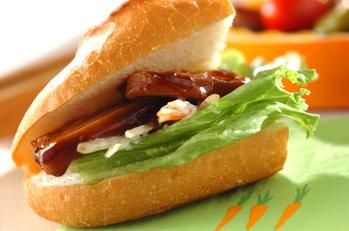 角煮のサンドイッチ