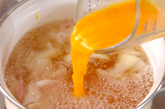 ハムのかきたま汁の作り方2