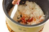 梅ご飯でおにぎりの作り方2
