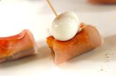 ウズラの卵とカボチャのピンチョスの作り方2