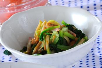 小松菜のナメタケ和え