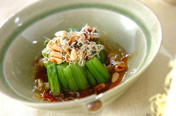小松菜のネギ油がけ