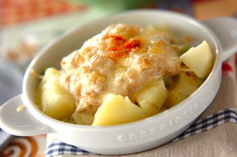アボカドとジャガイモのチーズ焼き