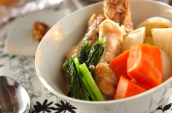 あったか鶏とカブのスープ煮