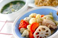 ゆで野菜&スープ