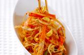 豆モヤシのピリ辛炒めの作り方3