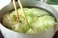 鮭とキャベツの蒸し煮の下準備1
