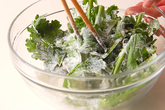 菊菜・かき揚げの作り方1
