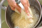 七夕の豚しゃぶ巻きトマトつけ麺の作り方4