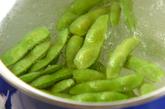 塩ゆで枝豆の作り方1