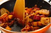 ひき肉入りレンコンとサツマイモのきんぴらの作り方4