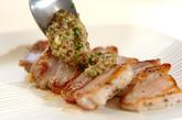 豚バラ肉のミントマスタードソースがけの作り方2