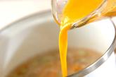 エンドウ豆の卵とじの作り方3
