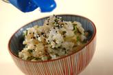 刻み漬け物の混ぜご飯の作り方1