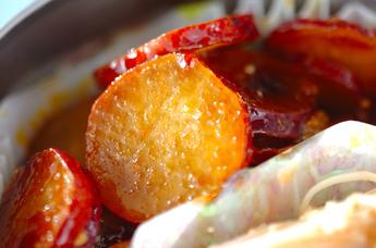 サツマイモのピリ辛煮