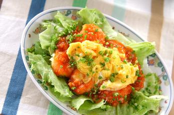 卵入りエビのチリソース