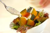 ゆでカボチャのサラダの作り方2