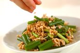 細ネギと鶏ひき肉のピリ辛サラダの作り方3