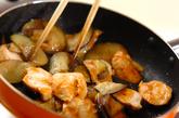 ささ身とナスの辛みそ炒めの作り方4