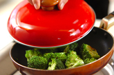 ブロッコリーの中華きんぴらの作り方1