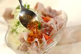 ピリ辛ネギダレがけゆで豚の作り方2