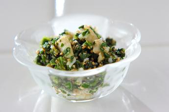 小松菜と麩のゴマ和え