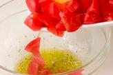 トマトとバジルのサラダの作り方1