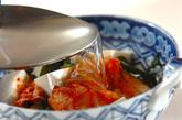 キムチと豆腐の冷スープの作り方1