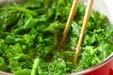 菜の花のマヨからし和えの作り方1