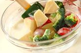 ブロッコリーとリンゴのサラダの作り方1