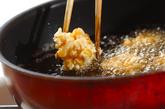 水煮コーンの落とし揚げの作り方2