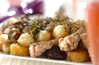 鶏肉と野菜の蒸し焼き