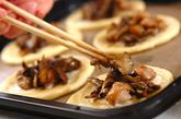 キノコと照り焼きチキンパンの作り方5