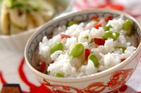 枝豆と梅のご飯