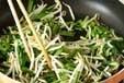 ニラとモヤシの卵炒めの作り方1