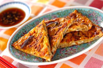 シイタケと大根の卵焼き