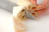 長芋とレンコン蒸しの下準備1