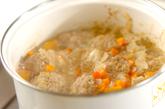 ミートボールのクリームスープの作り方3
