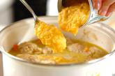 ミートボールのクリームスープの作り方4
