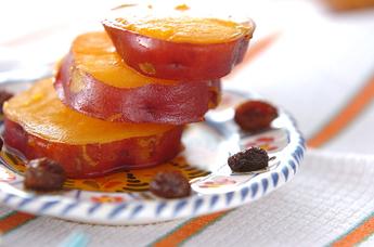 サツマイモのレーズン煮