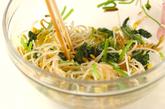 豆モヤシのザーサイ和えの作り方1
