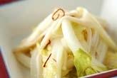 白菜とエノキの甘酢和え