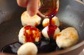 つくねとウズラの卵の照り焼きの作り方2