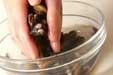 シジミのみそ汁の下準備1