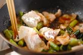 豚肉と野沢菜炒め丼の作り方2