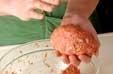 ナッツ入りハンバーグの作り方2