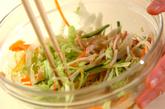 春雨と野菜の酢の物の作り方1