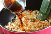 高野豆腐のそぼろ丼の作り方3