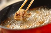 高野豆腐の鶏レバー揚げの作り方2