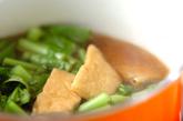 カブの葉と油揚げの煮物の作り方2